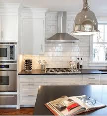 Kitchen Subway Tile Backsplash by Best 10 Stainless Steel Hood Ideas On Pinterest Stainless Steel