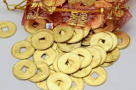 ancient coins gold chinese feng shui lucky from creatistshop on