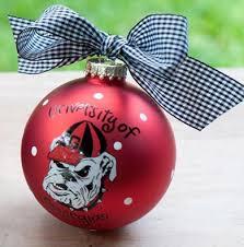 university of georgia u0027go dawgs u0027 glass ball ornament uga