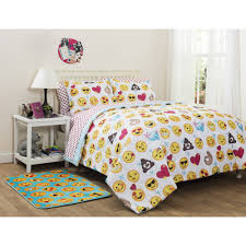 girls purple bedding emojipals bed in a bag bedding set online only walmart com