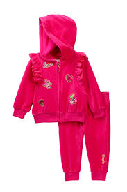 Juicy Couture Home Decor Juicy Couture Pink Velour Patch Set Baby Girls Nordstrom Rack