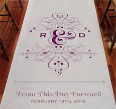 purple aisle runner wedding aisle runners personalized aisle runners