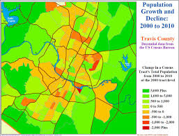Austin Texas Map by Austin 2000 2010 The Urban Core Mostly Lost Population Austin