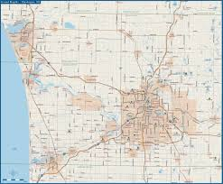 Grand Rapids Michigan Map by Grand Rapids Digital Vector Creative Force