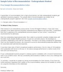 ideas collection samples of student recommendation letters for