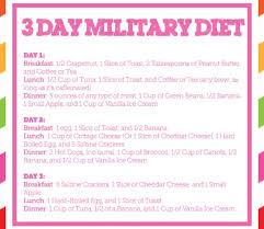 army weight loss plan menu
