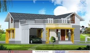 single floor kerala house elevation at 1200 sq ft