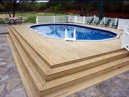 above ground pool deck plans ideas for winter above ground pool