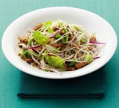 noodle salad recipes thai rice noodle salad recipe bbc good food