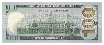 hundred dollar bill for united states the inspiration room