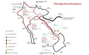 Map Running Routes by Race Info Big Five Marathon