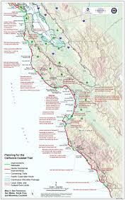 Oregon Beaches Map by California Coastal Trail