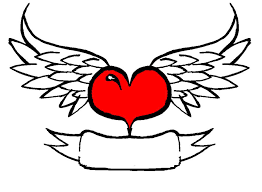 Hearts With Wings - fantastic with wings drawing tattooshunter com