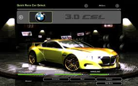 bmw concept csl need for speed underground 2 bmw 3 0 csl hommage concept nfscars