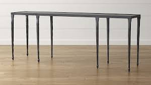 Crate And Barrel Desk by Silviano Long Console Table Crate And Barrel