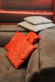 orange furniture for bold and cheerful interior decors healthy