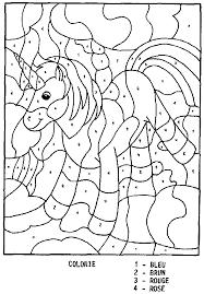 coloriage magique cheval à colorier dessin à imprimer