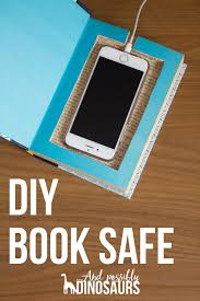 diy book safe charging station and possibly dinosaurs