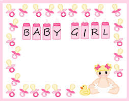 free baby shower border templates free download clip art free