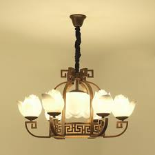 antique 8 light antique stained glass chandelier downlight for bedroom