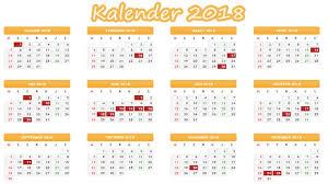 Kalender 2018 Hari Libur Indonesia Libur Nasional Dan Cuti Bersama Pada Kalender 2018