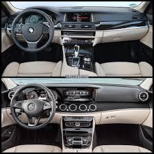 mercedes benz e class interior photo comparison mercedes benz e class vs bmw 5 series