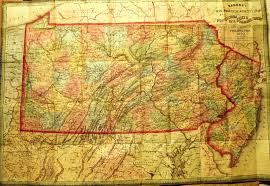 County Map Of Pennsylvania Pennsylvania In Early Pocket Maps