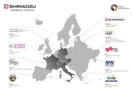 European Map Test by Launch Of Shimadzu European Innovation Center Shimadzu France