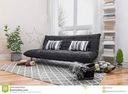 Gray Sofa Living Room Living Room Spacious Living Room With Modern Decor Stock Photos