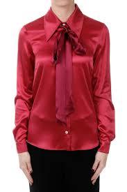 gucci women silk blend satin blouse spence outlet