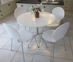 bistro style white u0026 chrome dining table u0026 chairs from m u0026s