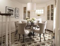 Dining Room Table Sets For Small Spaces White Circle Dining Table With Chairs Dinette Kitchen