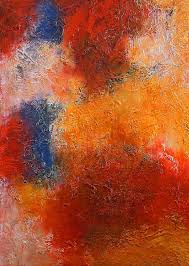 abstract in warm colors painting by angela anelli