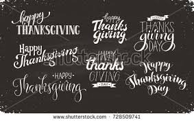 happy thanksgiving day lettering stock vector 726893068