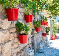 Outdoor Wall Hanging Planters by Grow A Garden Anywhere