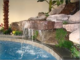 indoor water fountain in simple decoration to create a welcoming