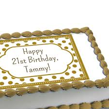 golden birthday personalized cake decoration
