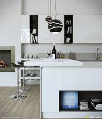kitchen design white panel cabinetry minimalist design white