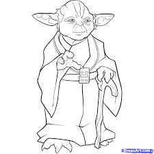 star wars coloring page yoda and pages glum me