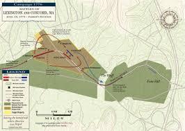 Boston Map 1776 by Battle Of Lexington And Concord Parker U0027s Revenge April 19 1775