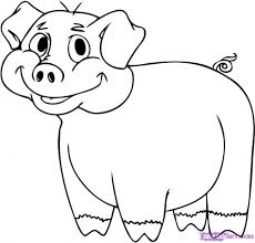 cartoon drawings of pigs drawing tutorials for beginners how to
