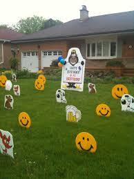 birthday lawn ornaments