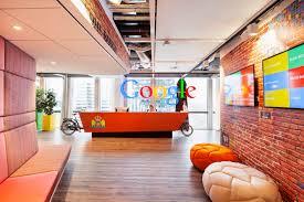 Dublin Google Office by 12 Inspiring Reception Desk Designs