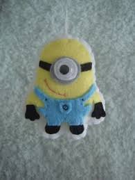 felt despicable me minion ornament decoration to make for