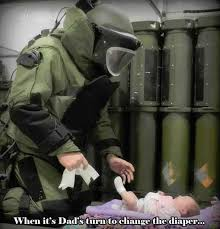 Diaper Meme - when it s dad s turn to change the diaper military humor