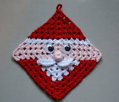 free crochet santa claus granny square pad diagram pattern