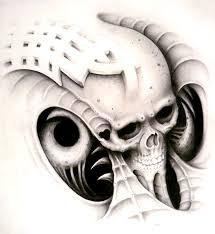 bio mech goofy design skull by articidal on deviantart