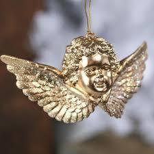 gold cherub ornament ornaments and winter