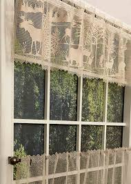 lodge hollow lace curtain pattern