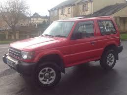 mitsubishi shogun 2 5 glx td swb 3 doors 4x4 manual diesel red